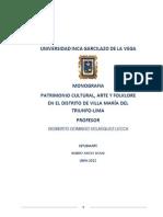PATRIMONIO CULTURAL-VILLA MARIA DEL TRIUNFO