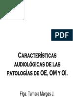 Características Audiológicas de Las Patologías Byn