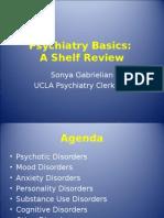 Psychiatry - Shelf Review