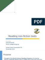 Decoding Non-fiction Presentation Excerpts