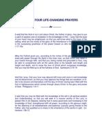 Four Life Changing Prayers