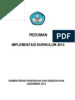 Pedoman Implementasi Kurikulum 2013