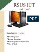 Kursus Format & Instal Perisian