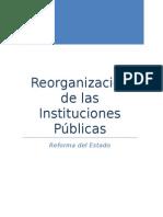 Reorganización de las instituciones públicas