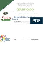 Certificado Sedes
