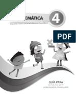 Guia Del Docente Matematicas 4to