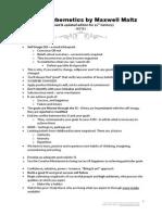 Maxwell Maltz-PsychoCybernetics Notes