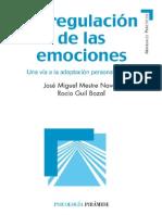 La Regulación de Las Emociones Una Vía a La Adaptación Personal