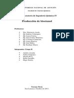 Proceso de obtención de Bioetanol