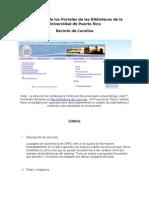 Evaluación del Portal de la Biblioteca de la Universidad de Puerto Rico en Carolina