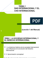 Tema 1. La Sociedad Internacional y El Derecho Internacional