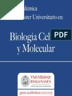 Biologia Celular y Molecular2012-2013