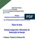 Cap. II Energia Assegurada e Mre