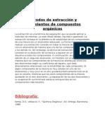 Métodos de Extracción y Aislamientos de Compuestos Orgánicos