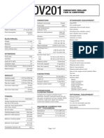 CCE5160704 DV201 Vibratory Roller Spec Sheet (Tier III)