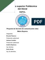 Esquema proyecto de emprendimiento primer parcial ESPOL