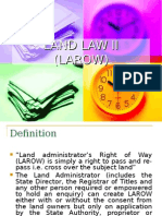 Land Law II ( Larow)as at Mac 2014
