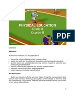 Grade 8 Physical Education 2nd Quarter