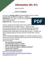 Registration Letter ForYOUTH 2015-16