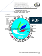 Formulir Pendaftaran Lomba Poster Mahasiswa Se-jawa
