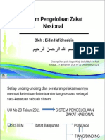 Sistem Pengelolaan Zakat Nasional Disampaikan Dalam Rapat Kerja Baitul Mal Se-Aceh 11 Des 2012