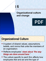 Managing Organizational Culture and Change Unit 6 2013