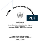 Descriptive Exam for Posts in BS-18 and Above for Advt.no.01!05!2014_updated-16!9!14