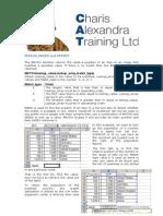 Excel Match Index Offset
