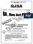 BA , English One Act Play Qadir Notes