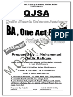BA , English One Act Play Qadir Notes