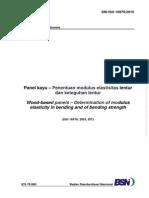 SNI ISO 16978-2010 Panel Kayu – Penentuan Modulus Elastisitas Lentur