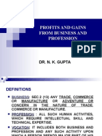Profits and Gains From Business and Profession