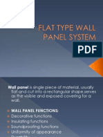 Flat Type Wall Panel System