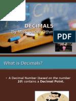 Let's have fun with Decimals!!