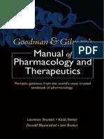 Goodman & Gilman's Manual of Pharmacologic Therapeutics, 2008 (Dragged) 15