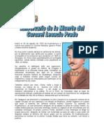 15 de JULIO (1) - Aniversario de La Muerte Del Coronel Leoncio Prado.
