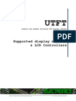 UTFT Supported Display Modules & Controllers