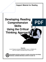 Developing Reading Comprehension Skill Using the Critical Thinking Approach