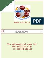 mathematics trivia