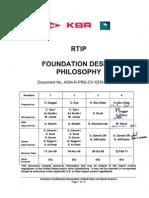 A554 K PRG CV GEN PHL 001 Foundation Design Philosophy