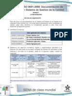 Desarrollo Unidad 1 - La Normalizacion de Una Organizacion - Wilson Ceballos