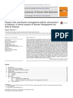 Disaster Risks and Disaster Management Policies and Practices in Pakistan (a Critical Analysis of Disaster Management Act 2010 of Pakistan)