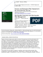 Earthquake Insurance and Earthquake Risk Management