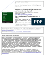Earthquakes and Risk Management in China