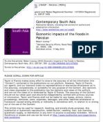 Economic Impacts of the Floods in Pakistan