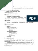 PLANO de AULA as Leis Da Termodinamica
