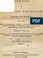 Memoirs of Benjamin Franklin; Written by Himself. [Vol. 1 of 2] by Franklin