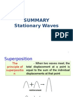 Summary - Stationary Waves