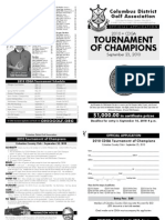 CDGA Tournament of Champions Application