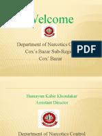 Presentation Drugs Trafficking Cox's Bazar Bangladesh by Humayun AD DNC
